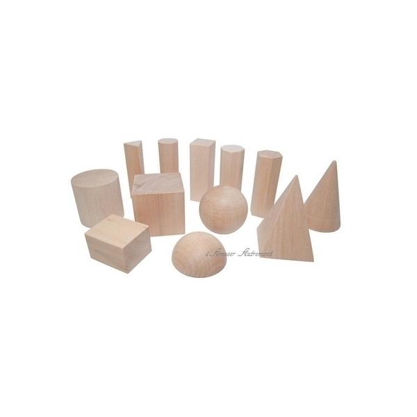 LER - 12 solides géométriques bois