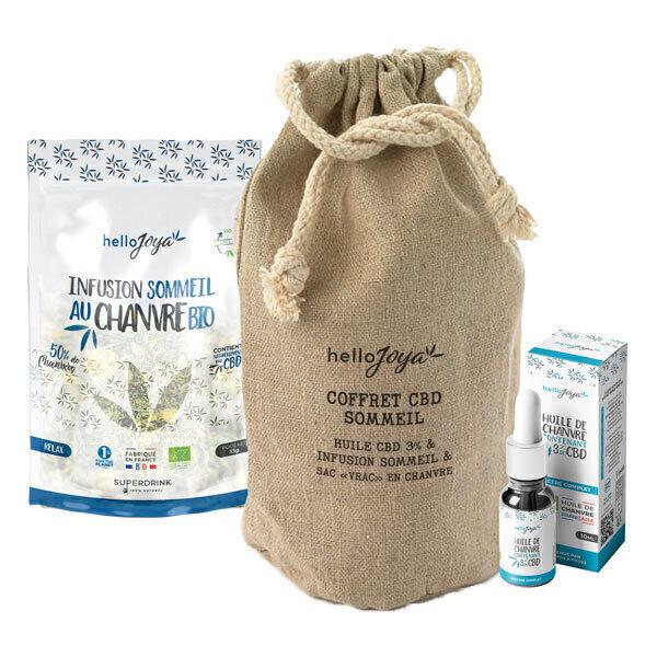 Hello Joya - Coffret CBD Sommeil : huile 3% 10ml et infusion 35g