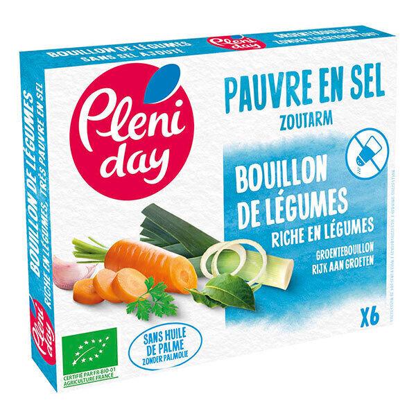 Pléniday - Bouillon de légumes pauvre en sel 54g