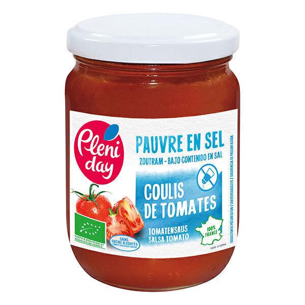 Pléniday - Coulis de tomates pauvre en sel 200g