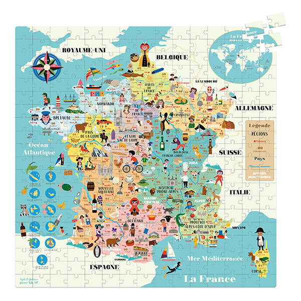 Vilac - Carte de France puzzle 300 pièces - Dès 8 ans