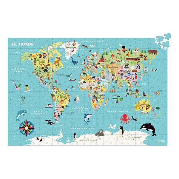 Vilac - Carte du Monde puzzle 500 pièces - Dès 8 ans
