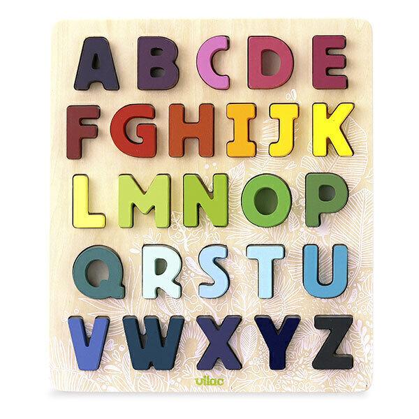 Vilac - Puzzle alphabet à encastrer Sous la Canopée - Dès 3 ans