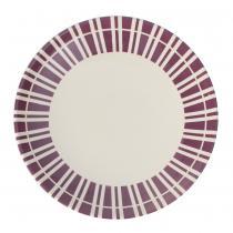 Déjeuner sur l'herbe - Assiette à dessert Lina 22 cm prune (lot de 2)