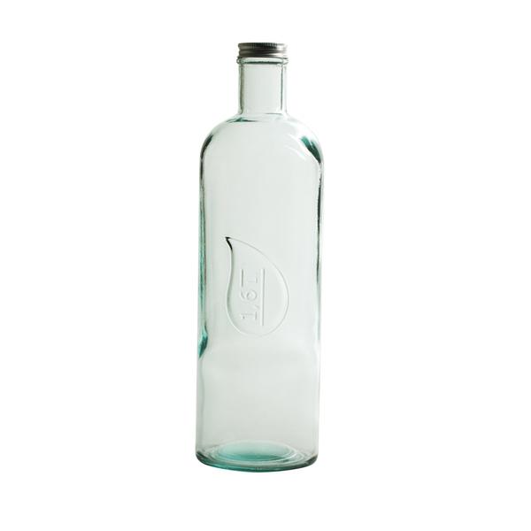 Table Passion - Bouteille avec bouchon vissable en verre recyclé 1.6 l