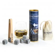 On The Rocks - Coffret 6 glaçons granit bleu de bretagne
