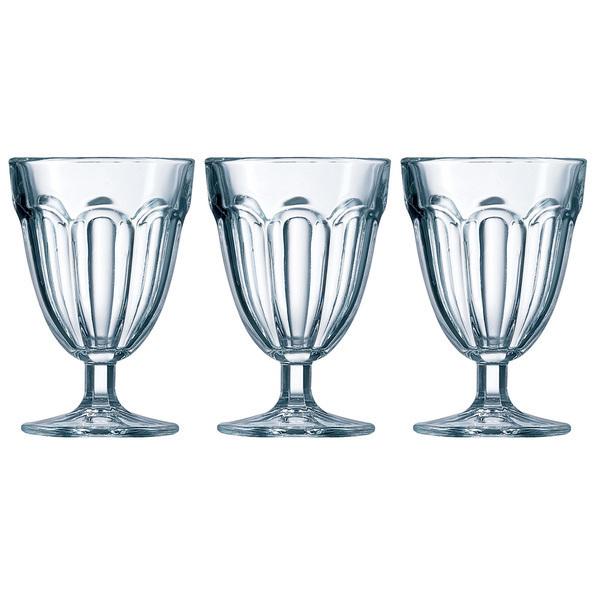 Luminarc - Pack de 3 verres à pied roman 14 cl luminarc