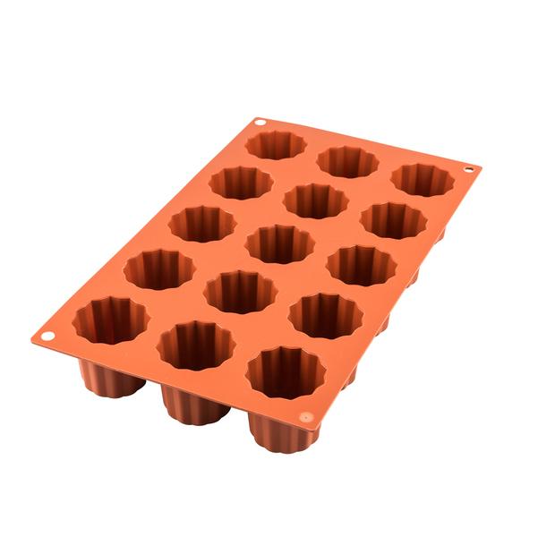 Silikomart - Moule en silicone 18 mini canelés 3.5 cm