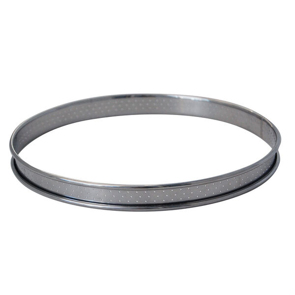 de Buyer - Cercle à tarte inox perforé bord roulé diam 28 cm