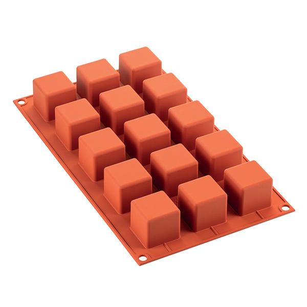Silikomart - Moule en silicone 15 cubes 3.5 x 3.5  cm