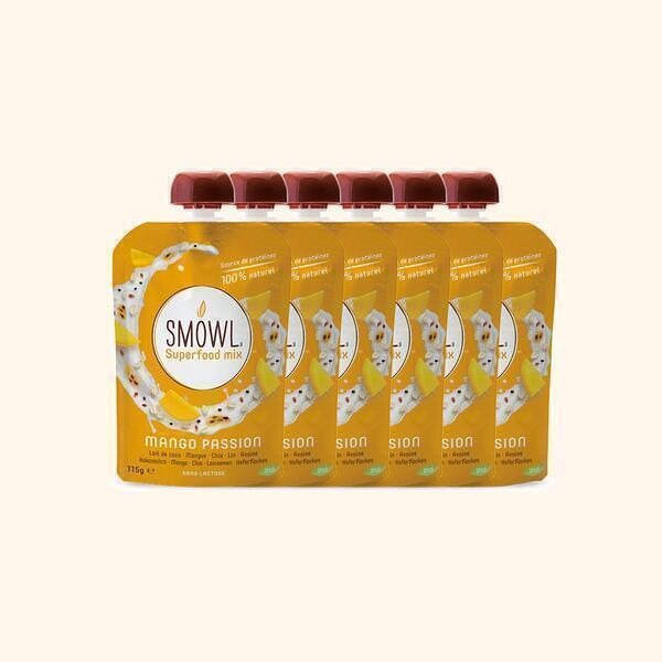 Smowl - Gourde Lait de Coco Mangue Passion Bio 115g - 6 x 115g