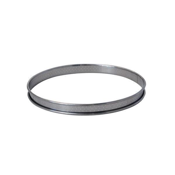 de Buyer - Cercle à tarte inox perforé bord roulé diam 10 cm