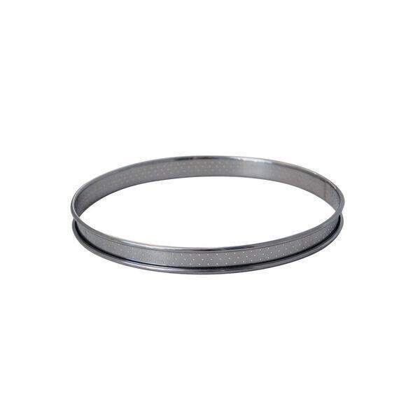 de Buyer - Cercle à tarte inox perforé bord roulé diam 8 cm