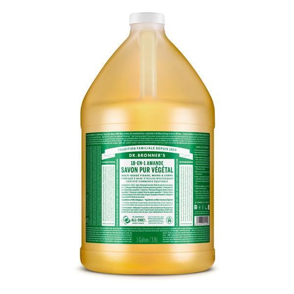 Dr Bronner's - Savon liquide Amande 3,8L