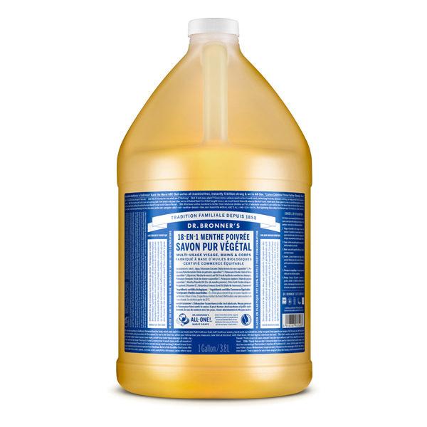 Dr Bronner's - Savon liquide Menthe 3,8L
