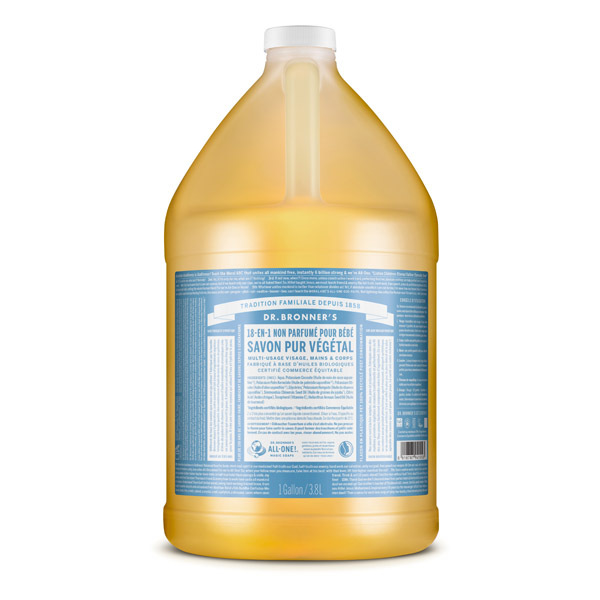 Dr Bronner's - Savon liquide Sans parfum 3,8L