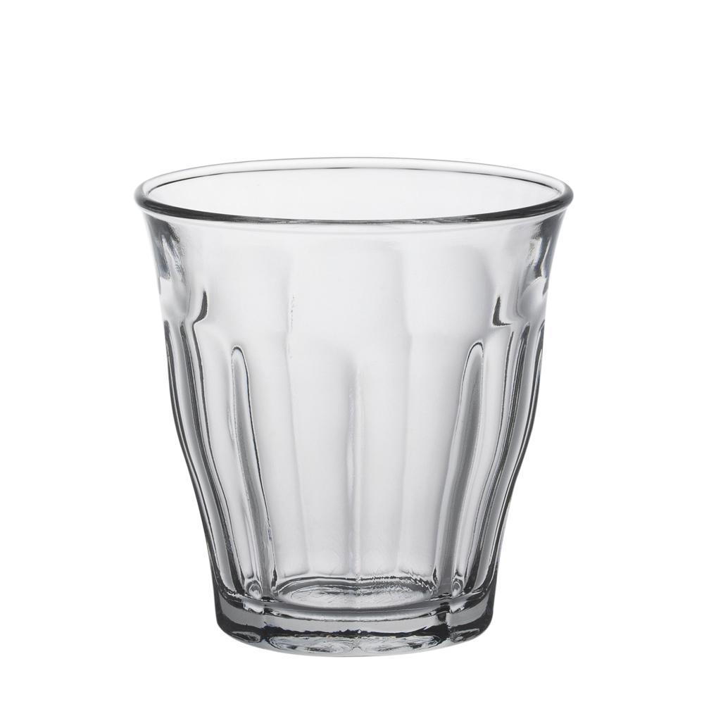 Duralex - Boite de 6 picardie transparent gobelet 9 cl