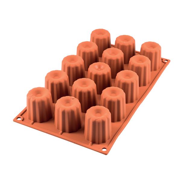 Silikomart - Moule en silicone 15 midi canelés 4.5 cm
