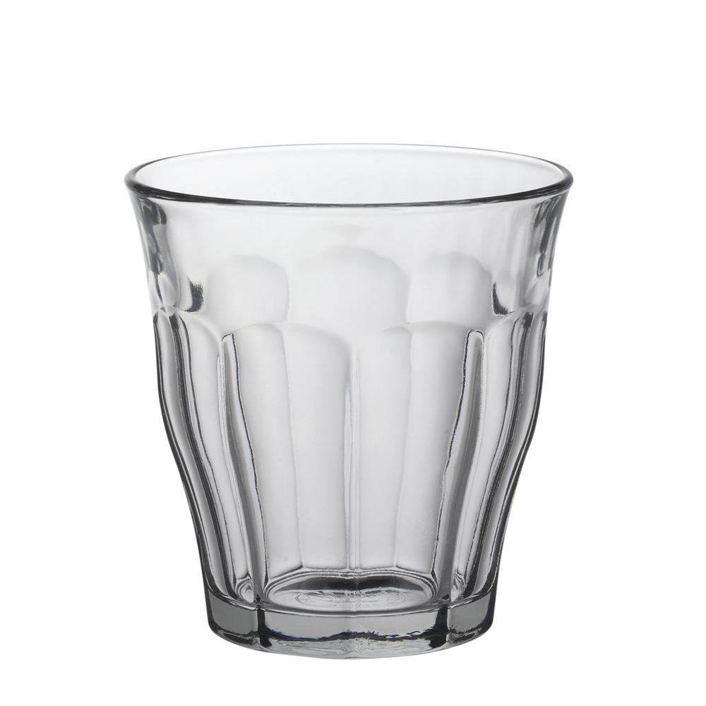 Duralex - Boite de 6 picardie transparent gobelet 16 cl