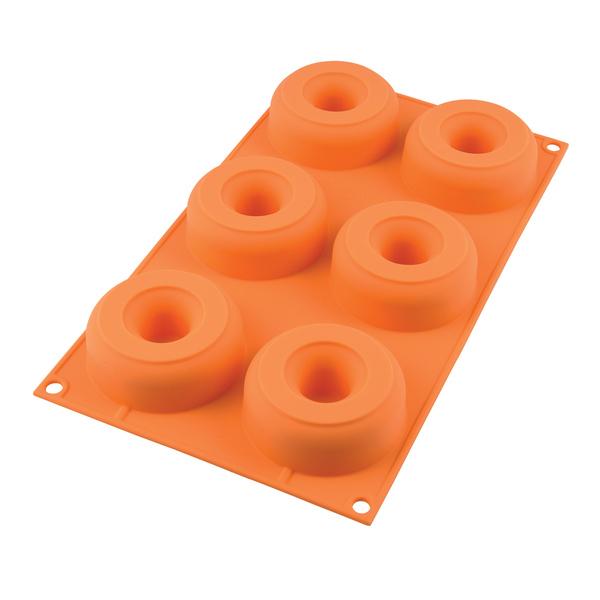 Silikomart - Moule pour 6 donuts 7.5 cm en silicone