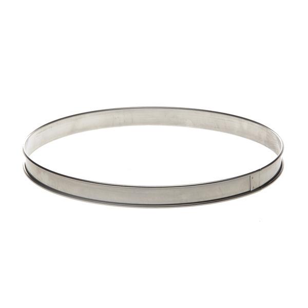 de Buyer - Cercle à tarte inox bord roulé diam 24 cm