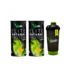 Vgain - Protéines VEGAN & BIO -  2 X Cacao 750g + Shaker