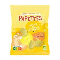 PAPETTES - Chips BIO aux légumes & riz complet, au fromage 70g
