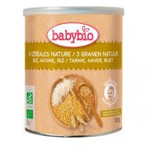 Babybio - Céréales Bébé 3 Céréales Nature (dès 6 mois) 220g