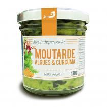 Marinoé - Moutarde aux algues et curcuma 130g bio