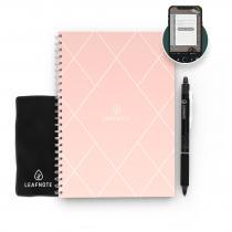 Leafnote - Agenda rose réutilisable Diamond A5, effaçable à l'eau.