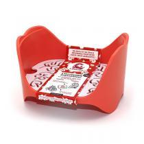 Lamazuna - Organisateur de salle de bain empilable rouge
