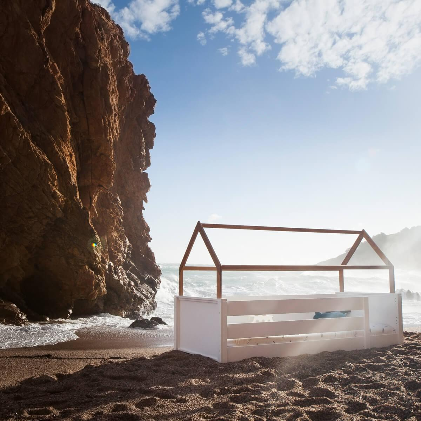 Wookids - Lit cabane montessori barrière KASVA