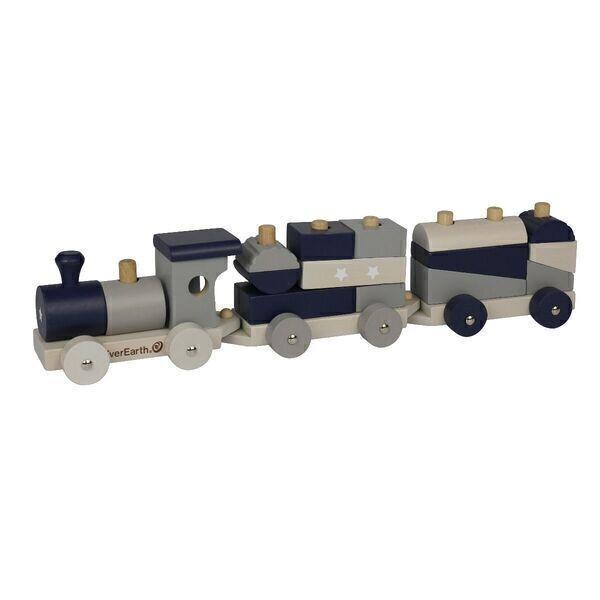 EverEarth - EverEarth - Train avec cubes à assembler - pastel (EE33789)