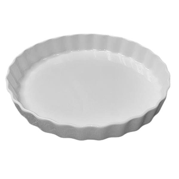 Porcelaine Girard - Moule à tarte en porcelaine blanche 30 cm