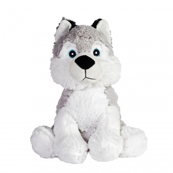 Pelucho - Peluche Bouillotte déhoussable Husky - Made in France