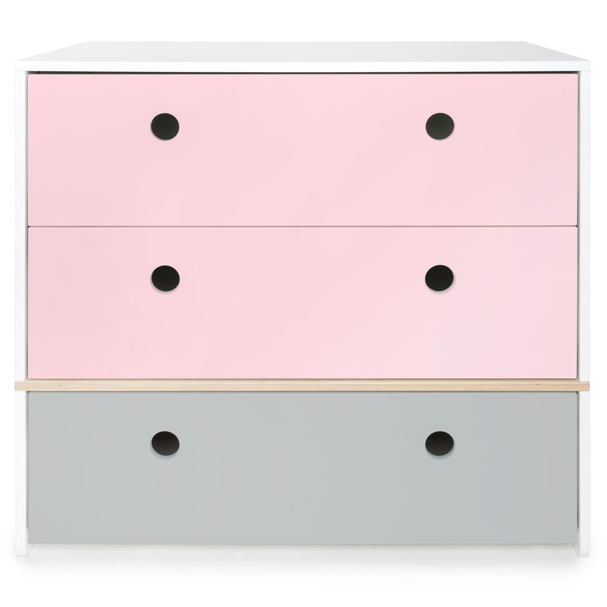 Wookids - Commode COLORFLEX s pink-p grey