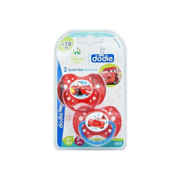 Dodie - Sucette Anatomique +18 Mois Modèle Cars - Lot De 2 - Dodie