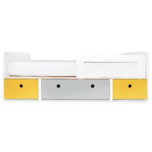 Wookids - Lit évolutif 200cm COLORFLEX yellow-grey