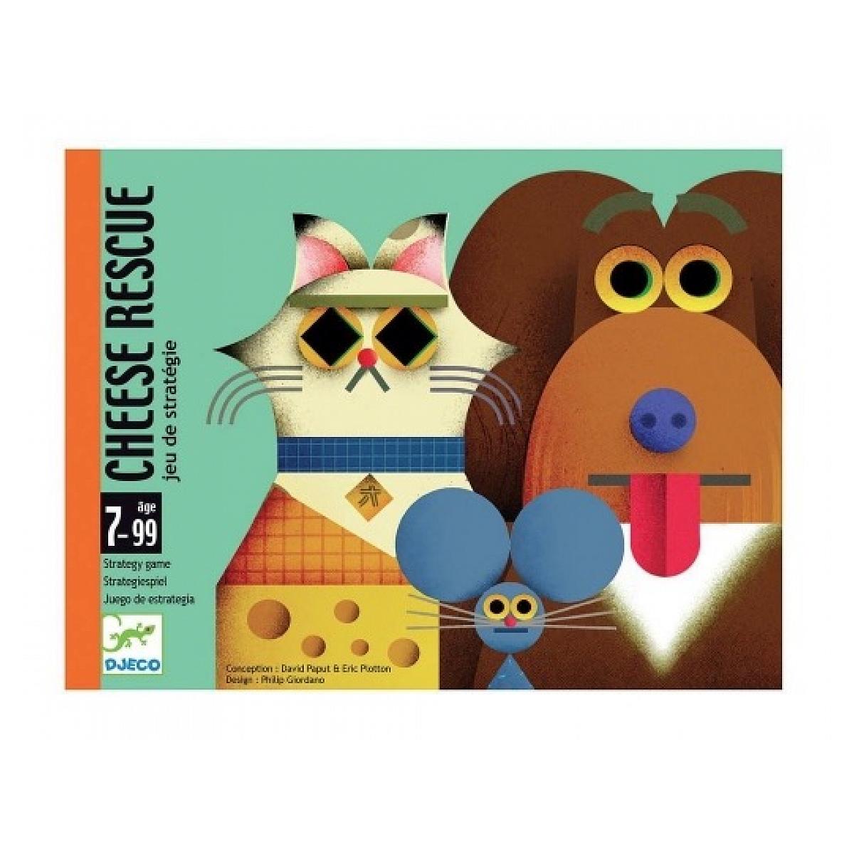 Djeco - Jeux de cartes en boite Cheese rescue