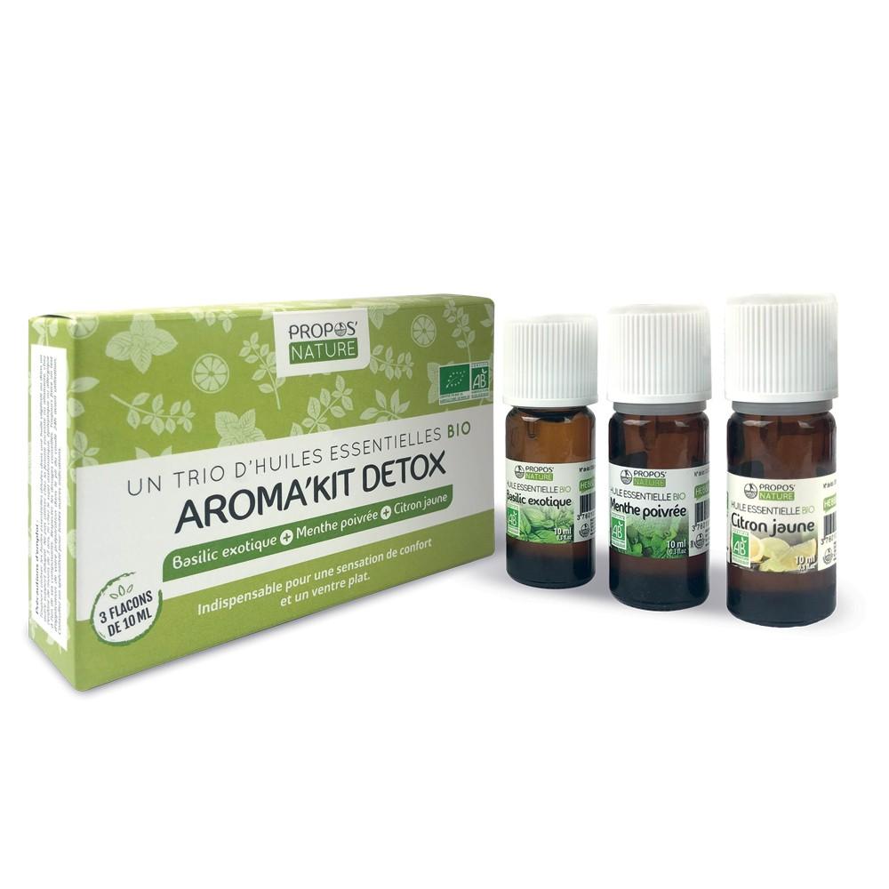 Propos'Nature - Aroma'kit Detox - 3 huiles essentielles bio