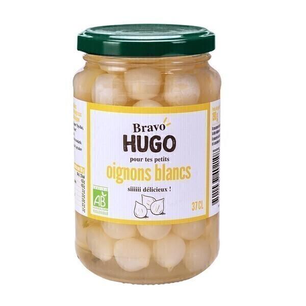 Bravo Hugo - Petits oignons blancs au vinaigre 37cl bio