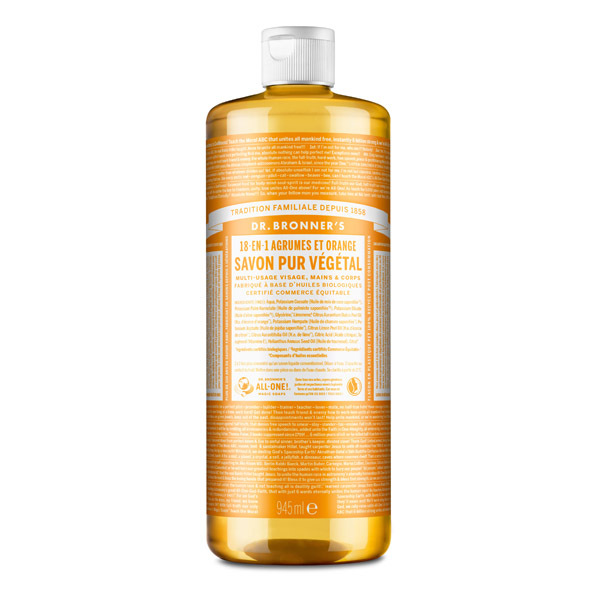 Dr Bronner's - Savon liquide Agrumes Orange 945ml