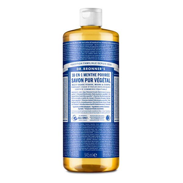 Dr Bronner's - Savon liquide Menthe 945ml