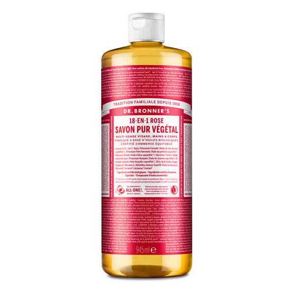 Dr Bronner's - Savon liquide Rose 945ml