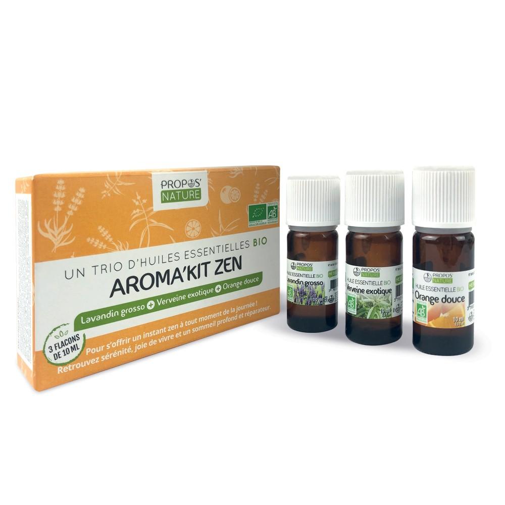 Propos'Nature - Aroma'kit Zen - 3 huiles essentielles bio