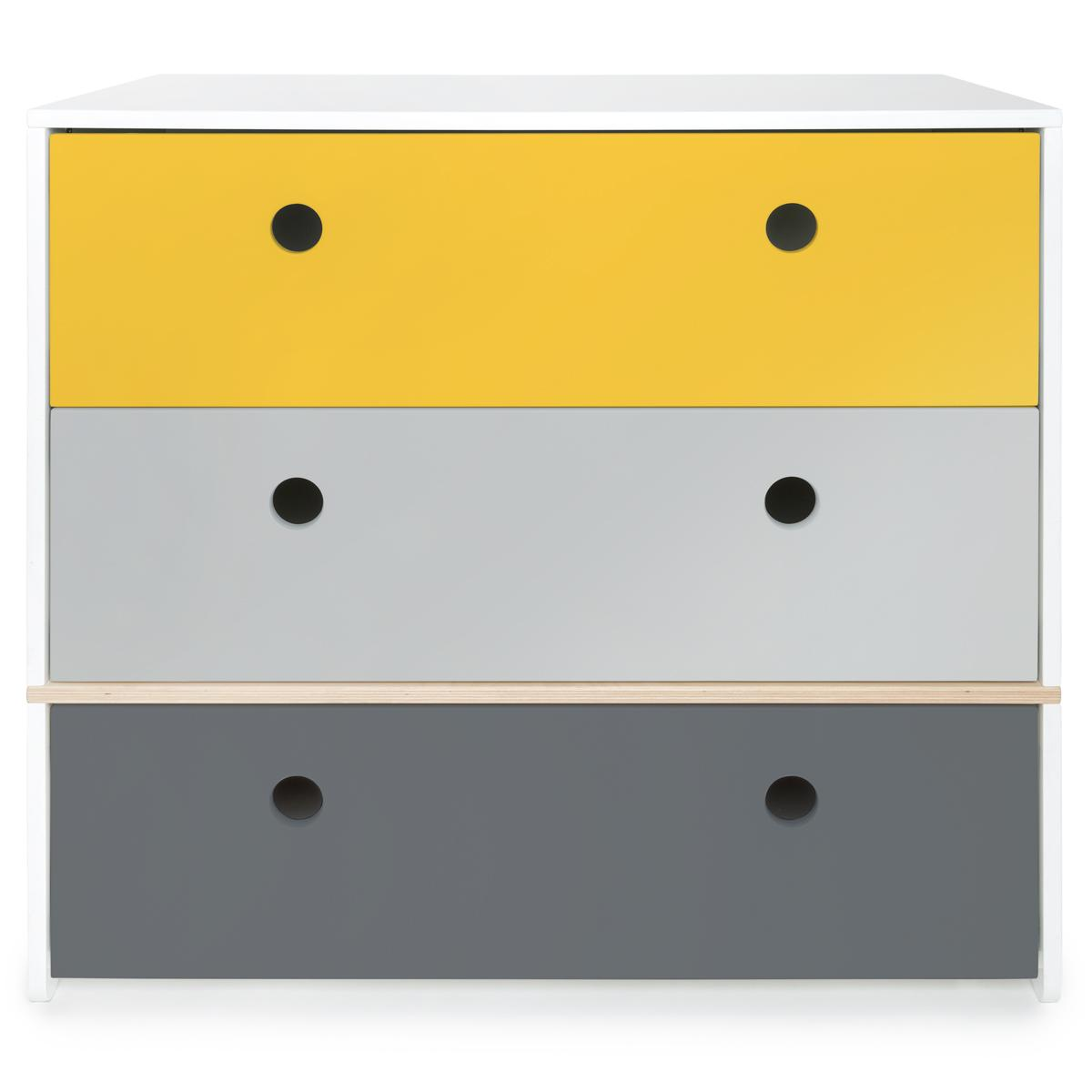 Wookids - Commode COLORFLEX n yellow-p/s grey