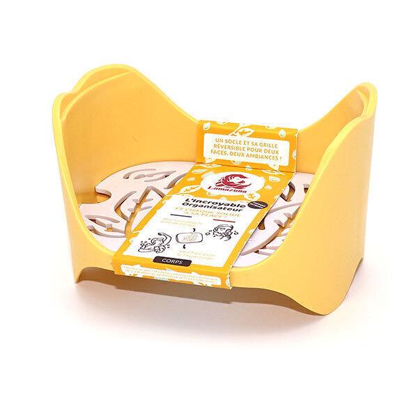 Lamazuna - Organisateur de salle de bain empilable jaune