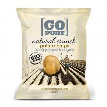 Go Pure - Chips à l'ancienne sel et poivre 125g bio