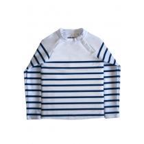 Nuvées - T-shirt de bain anti-UV Marinière 18-24 mois