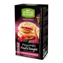 Le Moulin du Pivert - Biscuits fourrés fruits rouges vegan 175g bio